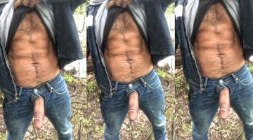 In the Forest with my Cock Out