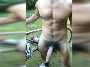 Cyclist Piss and Cum